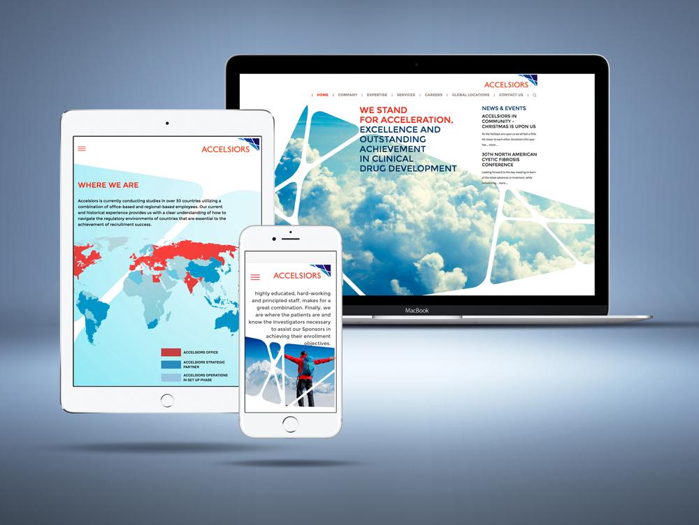 Egy biotechnológiai cég weboldala