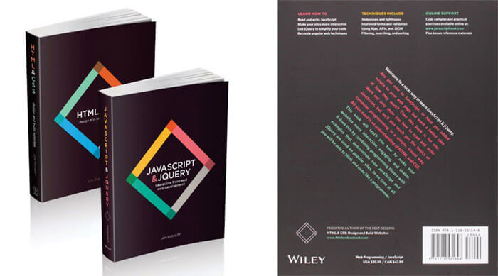 HTML & CSS, and JavaScript & JQuery (2 book set) by Jon Duckett