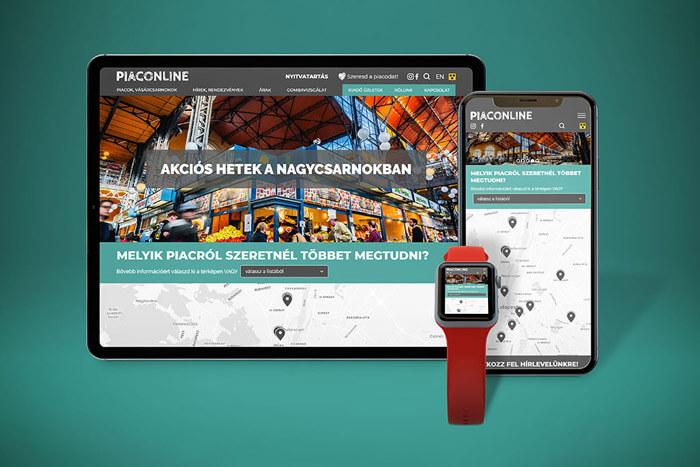 A Piaconline egyedi webfejlesztés projektje