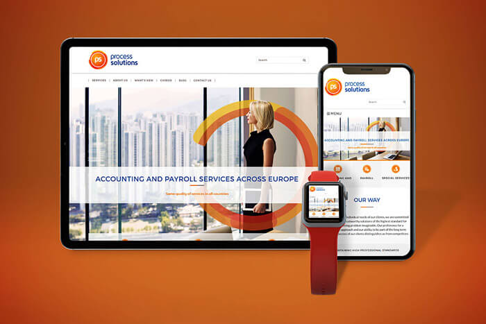 Process Solutions WordPress weboldala