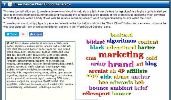 Daniel Soper's Deluxe Word Cloud Generator