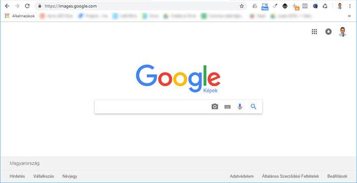 Google Képek kereső nyitólap