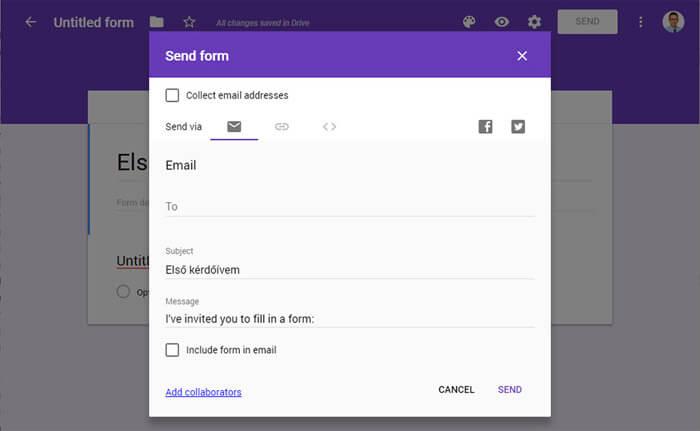Így küldd el e-mail-ben a Google Űrlapodat