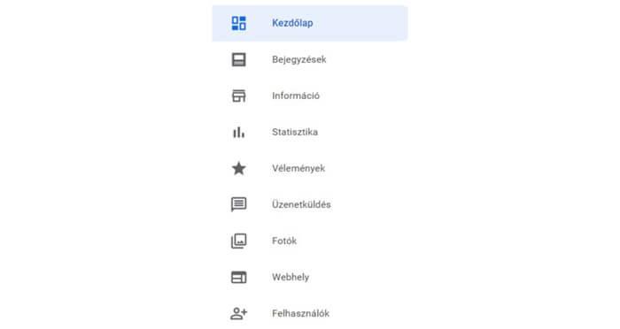 További beállítások a Google Cégem oldaladon