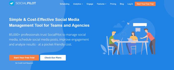 Social Pilot közösségi média eszköz