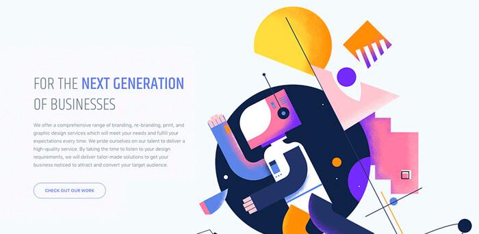 Gerometrikus forma weboldalon