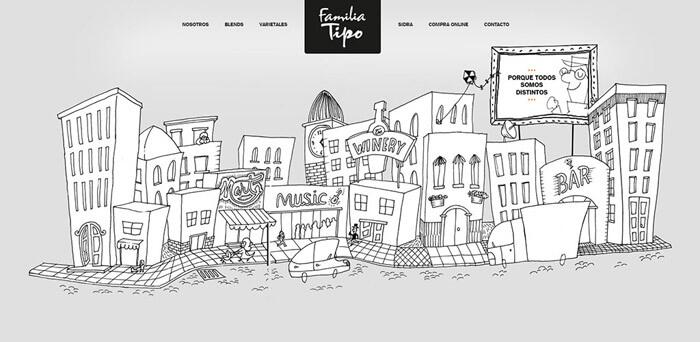 Vonalas illusztráció webdesign