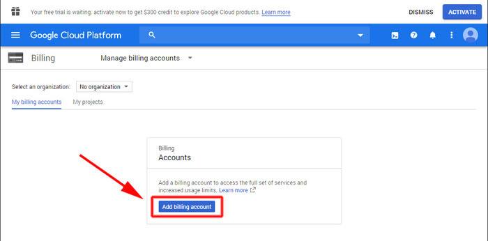 Google Cloud Platform regisztráció
